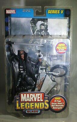 Marvel Legends Series V Blade Movie Wesley Snipes Action Figure NIB ToyBiz 2003
