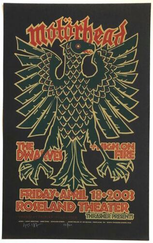 MINT & SIGNED Motorhead 2003 Roseland Portland Gary Houston Poster 132/160