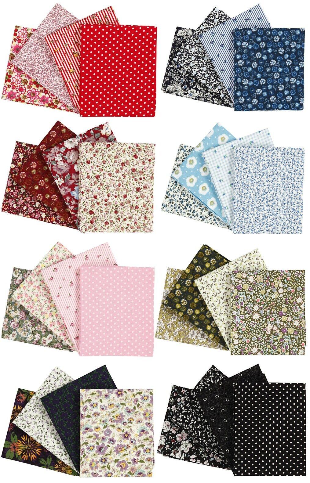 PatchworkStoff,100 Baumwolle,Stoffpaket,Maske,viel Farben Designs,ca.45x55cm
