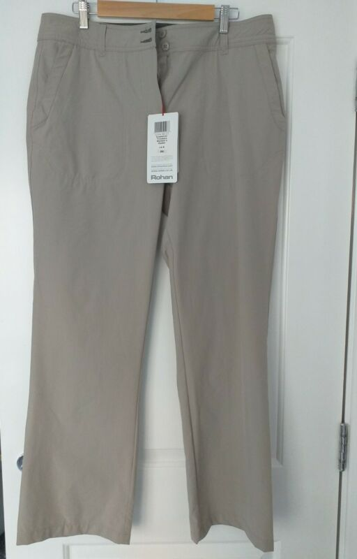 Womens ROHAN Lightweight New Crossover Trousers - Size 14  Oyster