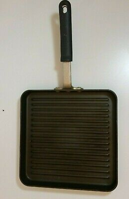 Calphalon Square Grill Pan - Vtg Calphalon Proffesional Commercial square Clad Grill Pan Frying 11