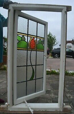 Leaded light stained glass window. R949a. DELIVERY OPTION.