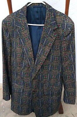 J. Crew Patchwork Blazer Sport Coat Men's Size 40R Hipster USA 2 Button