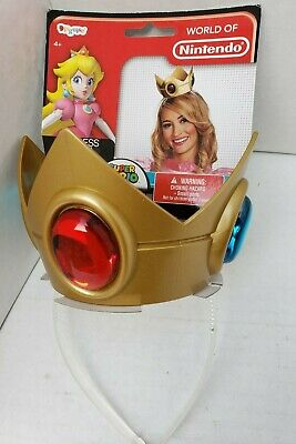 Super Mario Costume Accessories (World of Nintendo Super Mario Princess Peach Crown Costume Accessories Jewel)