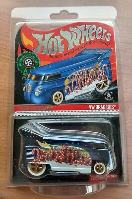 Hot Wheels RLC Exclusive 🎄 2019 Holiday Car 🎄 VW Drag Bus ~~  #5038/#10,000