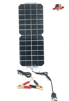 5W 12V/5V DC Waterproof Battery Solar Panel USB Living quarters Phone RV Car Boat Charger