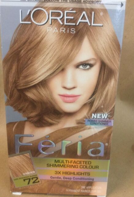 Loreal Feria Multi Faceted Shimmering 72 Caramel Kiss Hair Color ...