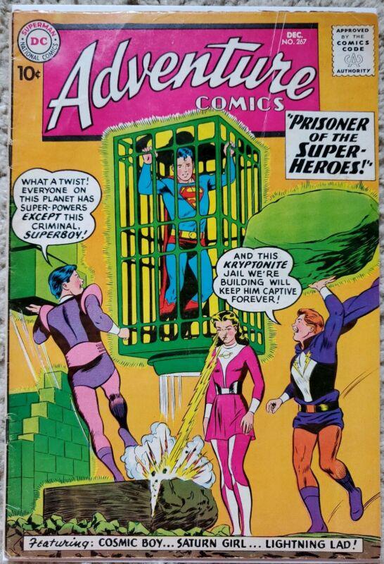 ADVENTURE COMICS #267 VG+ 4.5 DC 12/1959