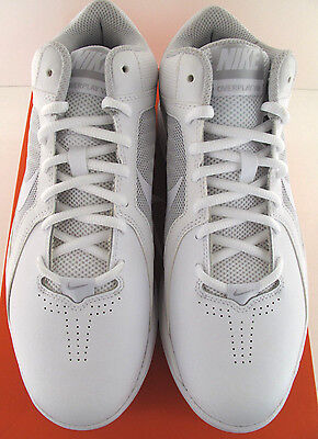 dd40fa256c606 Nike The Overplay VIII Mens White Leather Basketball Shoes NWD Medium