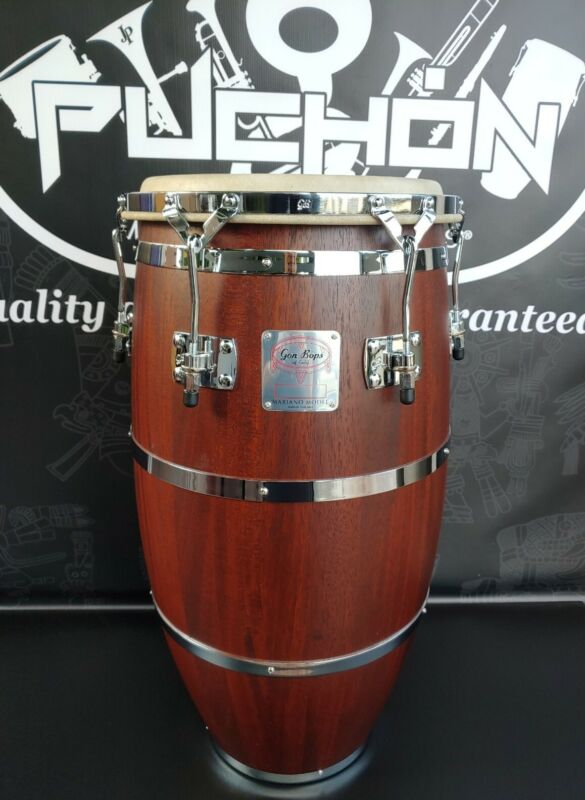 "Gon Bops Mariano Series Chrome Tumba 13.25"" Durian Finish"