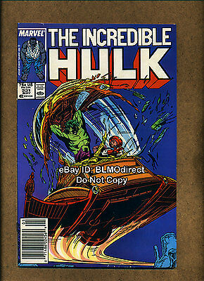 1987 The Incredible Hulk #331 F/VF First Print News Stand Edition Marvel Gray