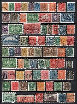 Canada + Newfoundland Old Time Lot 154 Stamps Used-Mint See Scans