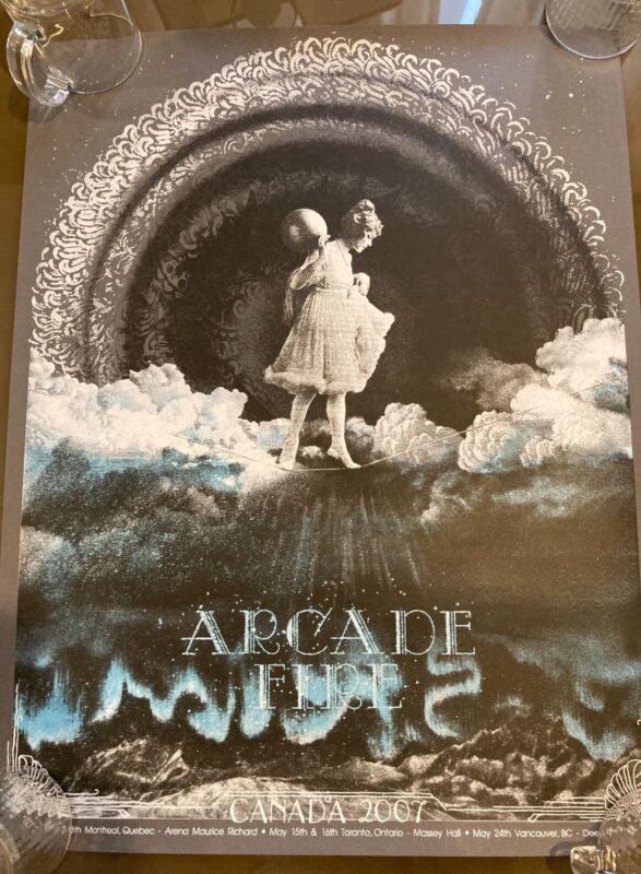 Arcade Fire Poster Concert Canada 2007 Ballet Beautiful Burlesque Wes Winship