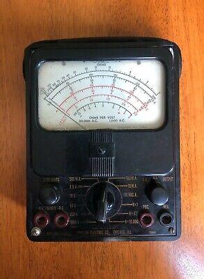Vintage Simpson Black Model 260 Volt Ohm Amp Meter Untested Steam Punk