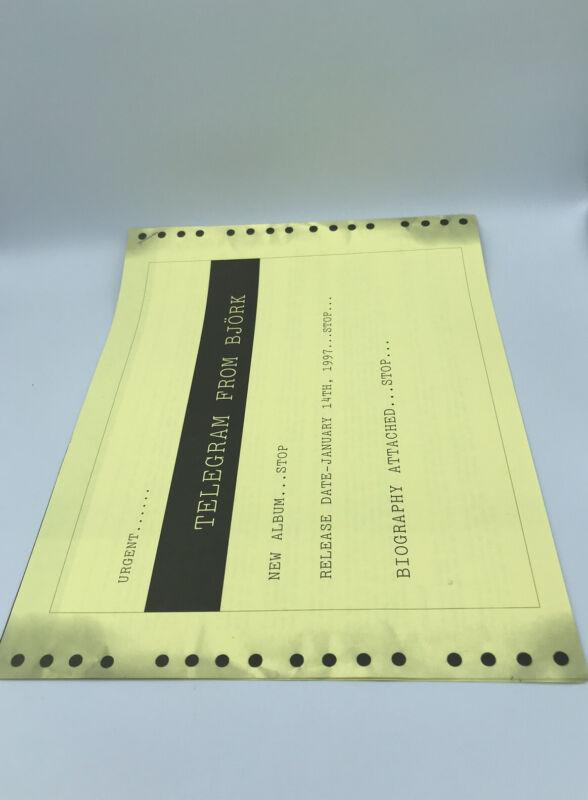 Björk «Telegram» Album Press/Media Release, Music Commemorative 1996