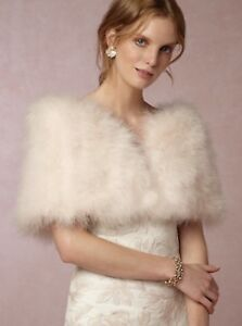 BHLDN Blush Fur Stole (BRAND NEW!)