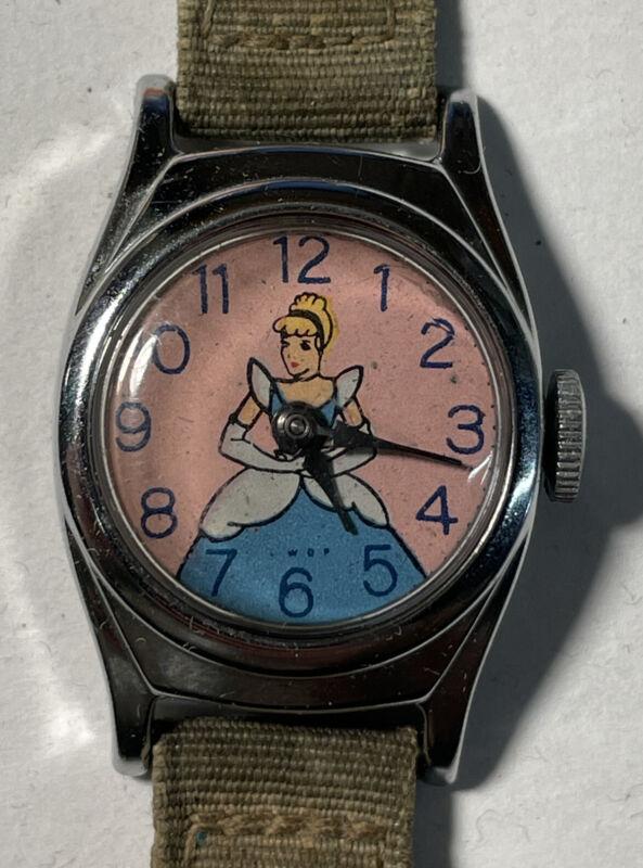 Walt Disney Production US Time Vintage Cinderella Watch 1950's - Working