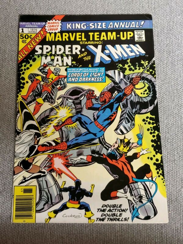NOVEMBER 1976 MARVEL KING-SIZE ANNUAL TEAM-UP NO. 1 SPIDER-MAN AND X-MEN COMIC
