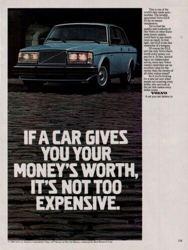 1980 Volvo GLE Blue Sedan Car Vintage Color Photo Print Ad