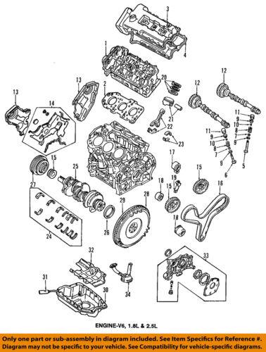 Mazda KL01-10-535 Engine Timing Cover Gasket