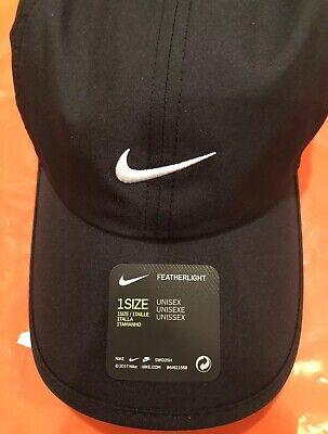 92e536e78a346 Nike Aerobill Featherlight Dri-Fit Black Unisex Tennis Running Cap  CI2662-010