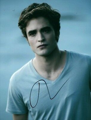 Robert Pattinson Twilight Hand Signed 8X10 Photo Coa Autographed Look