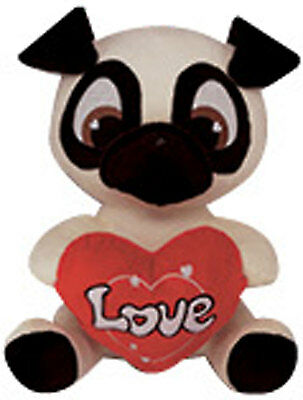 Black Pug Stuffed Animal (Valentine's Day 11
