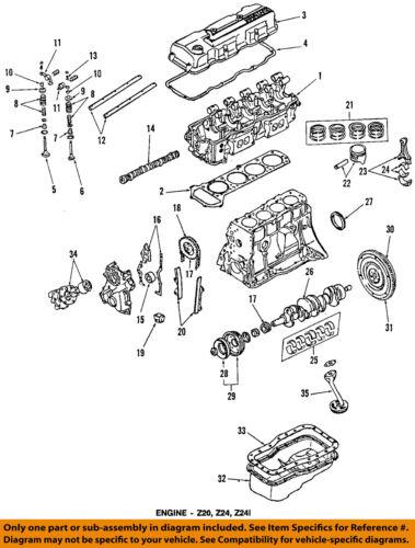 NISSAN OEM 98-01 Altima-Engine Crankshaft Crank Seal 122792B500 | eBay | 1998 Nissan Sentra Gxe Engine Diagram |  | eBay