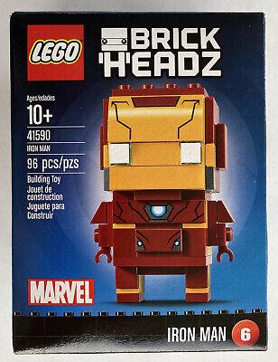 LEGO 41590 BrickHeadz Marvel's Iron Man New 96 Pcs Retired Set