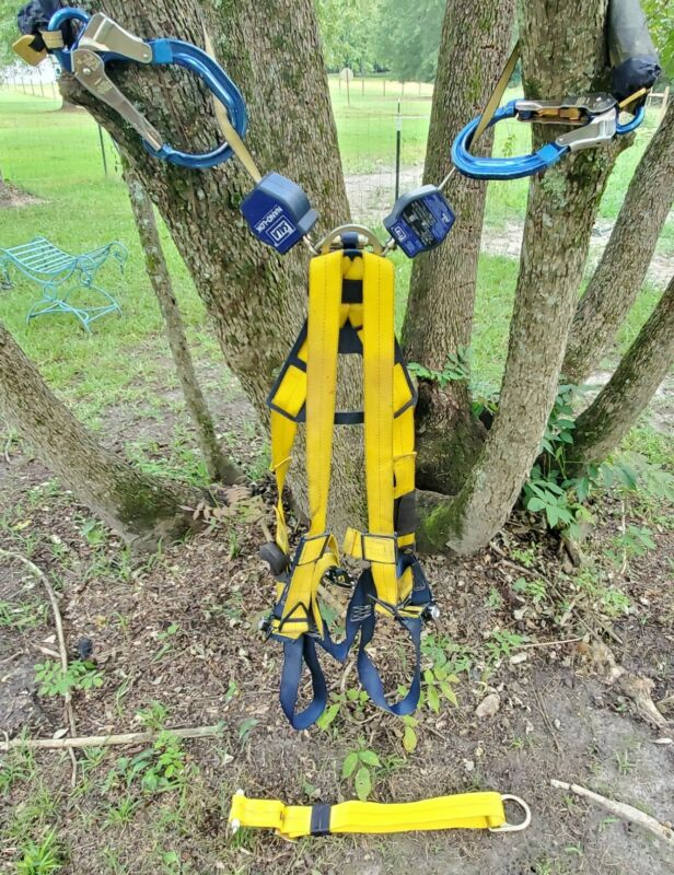 DBI Sala Delta Full Body Harness & Nano Lok Twin Leg Retracting Lifeline