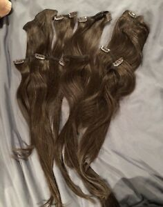 Brown hair extensions