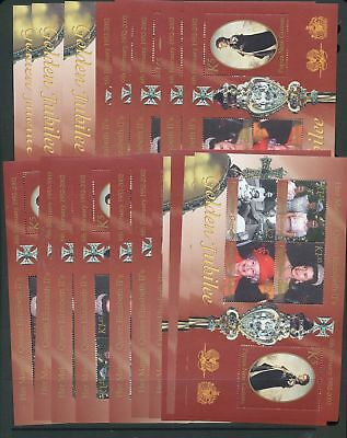 Papua New Guinea PNG 2002 Royal Queen Elizabeth Jubilee MNH Sheet x 20 (Papua 96