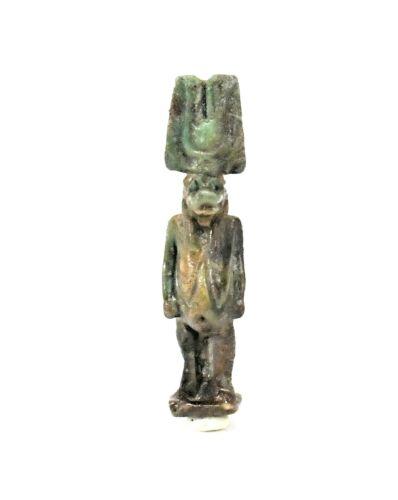 Ancient Egyptian Glazed Amulet of Taweret