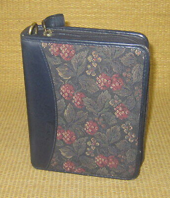 Compact 1.25 Rings Blue Leathertapestry Franklin Coveyquest Plannerbinder