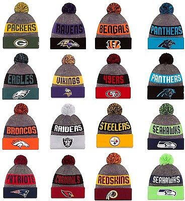 NEW ERA 2016-17 SPORT KNIT NFL On field Sideline Beanie Winter Pom Knit Cap Hat