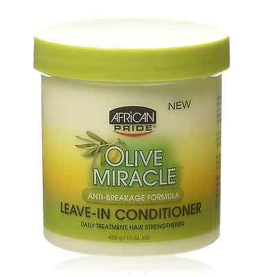 African Pride Olive Miracle Leave-in Conditioner 15 oz African Pride Leave In Conditioner