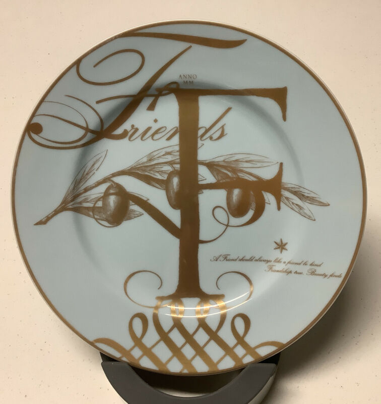 Williams Sonoma F Friends New Years Eve Plate 2000 Never Used