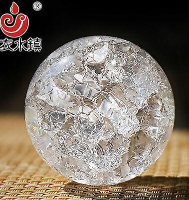 1pcs Crystal Glass Ice Cracking Broken Effect Ball Diameter 50mm X0g3