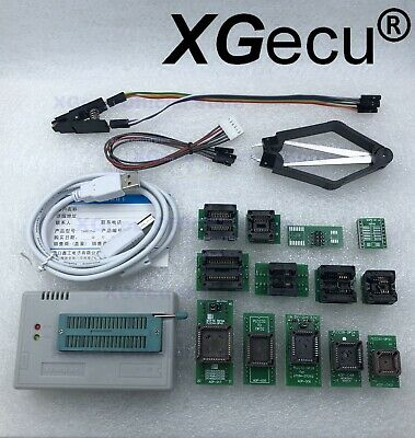 Xgecu Tl866ii Programmer Plus For Spi Flash Nand Eprom13 Adapterclip Ship Usa