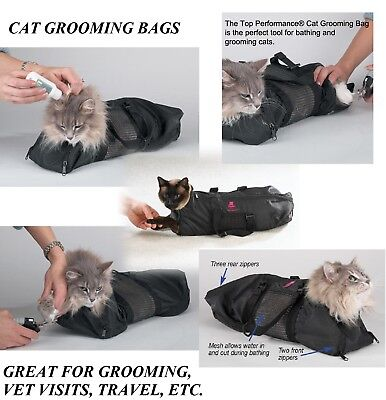 Cat Grooming Nail Clipping Bathing Bath Bag NO BITE SCRATCH Restraint System*SM