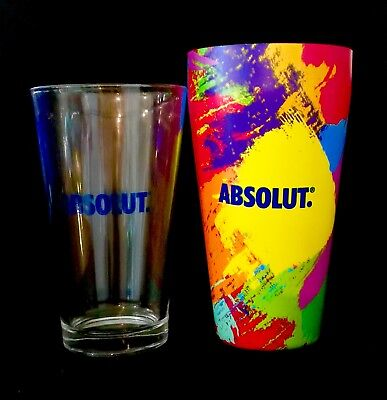 ABSOLUT VODKA COLORFUL METAL SHAKER EXCLUSIVE MEXICO ONE SOURCE SEATTLE NOX ZENG (Absolut Shaker)