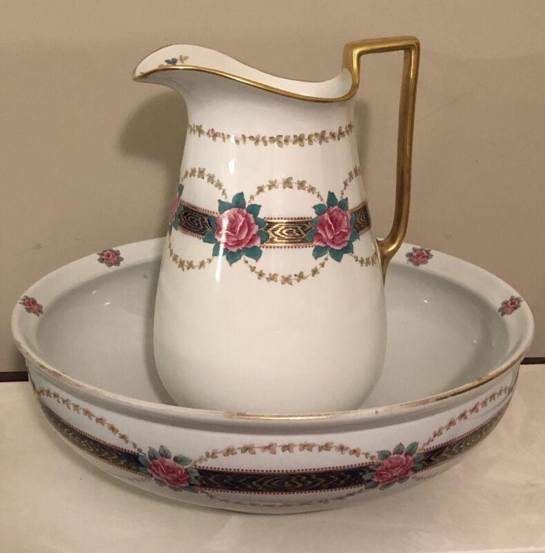 Vintage Royal Adderleys Made In England Wash Basin And Pitcher