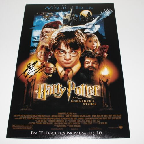 DANIEL RADCLIFFE SIGNED HARRY POTTER AND THE SORCERER'S STONE MOVIE POSTER w/COA