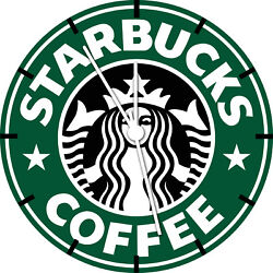 Starbucks Coffee Frameless Borderless Wall Clock Nice For Gifts or Decor A474