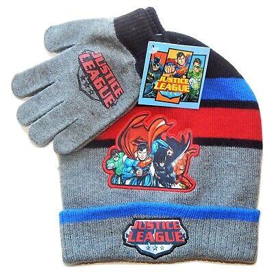 Justice League Batman Superman Jungen Strick Wintermütze & - Batman Handschuhe Kind