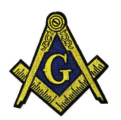 Mason Compass Symbol Embroidered Patch Iron/Sew-On Applique Freemasonry Lodge