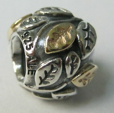 Authentic Pandora 790429 Tree Of Life Bead With 14k Gold Retired
