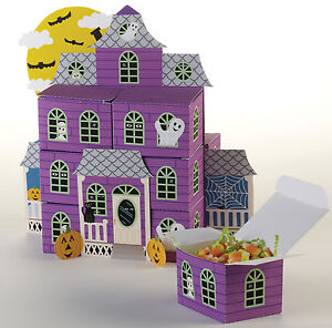 Halloween Favour Box centrepiece Haunted House party decorations & favor box