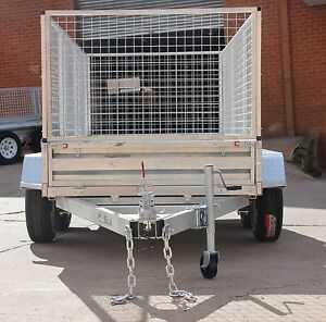 10X5 GALVARNISED TANDEM  BOX TRAILER WITH 900MM CAGE  2000KG ATM Fyshwick South Canberra Preview