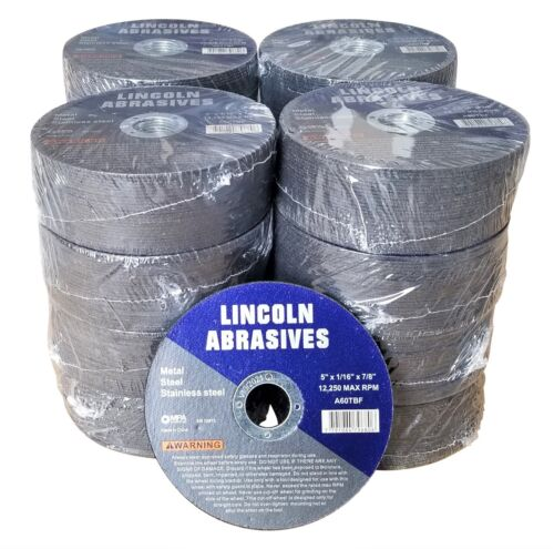 """400 Pc 5"""" x 1/16"""" x 7/8"""" Cut off Wheels Stainless Steel Metal Cutting Discs"""